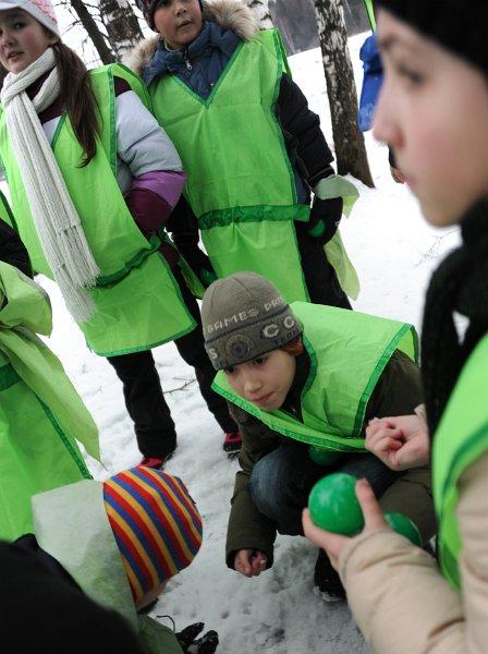 Первый день в зимнем лагере знакомство
